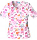 FILIPINA ESTAMPADA Novelty V-Neck Top Tinted Lov 65% Poliester 35% Algodón